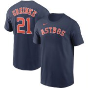 Wholesale Cheap Houston Astros #21 Zack Greinke Nike Name & Number T-Shirt Navy