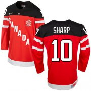 Wholesale Cheap Olympic CA. #10 Patrick Sharp Red 100th Anniversary Stitched NHL Jersey