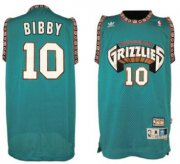 Wholesale Cheap Memphis Grizzlies #10 Mike Bibby ABA Hardwood Classics Green Throwback Swingman Jersey