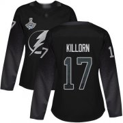 Cheap Adidas Lightning #17 Alex Killorn Black Alternate Authentic Women's 2020 Stanley Cup Champions Stitched NHL Jersey