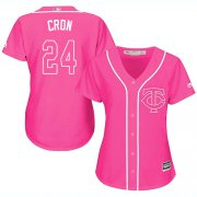 Wholesale Cheap Twins #24 C.J. Cron Pink Fashion Women's Stitched MLB Jersey