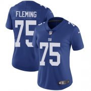 Wholesale Cheap Nike Giants #75 Cameron Fleming Royal Blue Team Color Women's Stitched NFL Vapor Untouchable Limited Jersey