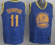 Wholesale Cheap Golden State Warriors #11 Klay Thompson Blue Leopard Print Fashion Jersey