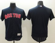 Wholesale Red Sox Blank Navy Blue Flexbase Authentic Collection Stitched Baseball Jersey