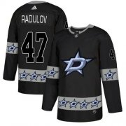Wholesale Cheap Adidas Stars #47 Alexander Radulov Black Authentic Team Logo Fashion Stitched NHL Jersey