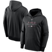 Wholesale Cheap Men's Arizona Diamondbacks Nike Black Authentic Collection Therma Performance Pullover Hoodie
