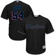 Wholesale Cheap Marlins #54 Wei-Yin Chen Black Cool Base Stitched Youth MLB Jersey