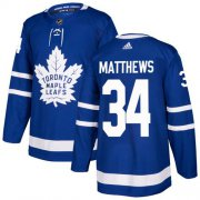 Wholesale Cheap Adidas Maple Leafs #34 Auston Matthews Blue Home Authentic Stitched Youth NHL Jersey