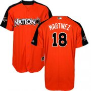 Wholesale Cheap Cardinals #18 Carlos Martinez Orange 2017 All-Star National League Stitched MLB Jersey