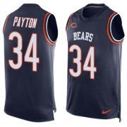 Wholesale Cheap Nike Bears #34 Walter Payton Navy Blue Team Color Men's Stitched NFL Limited Tank Top Jersey