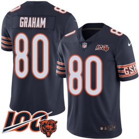 Wholesale Cheap Nike Bears #80 Jimmy Graham Navy Blue Team Color Men\'s Stitched NFL 100th Season Vapor Untouchable Limited Jersey