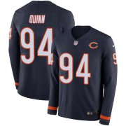 Wholesale Cheap Nike Bears #94 Robert Quinn Navy Blue Team Color Youth Stitched NFL Limited Therma Long Sleeve Jersey