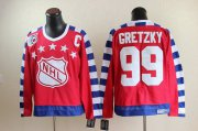 Wholesale Cheap Oilers #99 Wayne Gretzky Red All Star CCM Throwback 75TH Stitched NHL Jersey