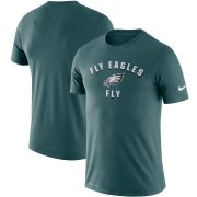 Wholesale Cheap Philadelphia Eagles Nike Sideline Local Performance T-Shirt Midnight Green
