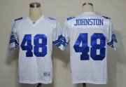 Wholesale Cheap Cowboys #48 Daryl Johnston White Legend Throwback Stitched NFL Jersey