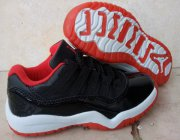 Wholesale Cheap Kids Air Jordan 11 Bred Black/True red-White