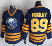 Wholesale Cheap Sabres #89 Alexander Mogilny Navy Blue CCM Throwback Stitched NHL Jersey