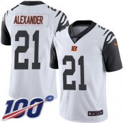 Wholesale Cheap Nike Bengals #21 Mackensie Alexander White Men's Stitched NFL Limited Rush 100th Season Jersey