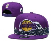Wholesale Cheap Men's Los Angeles Lakers Snapback Ajustable Cap Hat YD