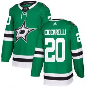 Wholesale Cheap Adidas Stars #20 Dino Ciccarelli Green Home Authentic Stitched NHL Jersey