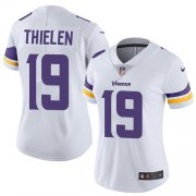 Wholesale Cheap Nike Vikings #19 Adam Thielen White Women's Stitched NFL Vapor Untouchable Limited Jersey