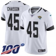 Wholesale Cheap Nike Jaguars #45 K'Lavon Chaisson White Men's Stitched NFL 100th Season Vapor Untouchable Limited Jersey