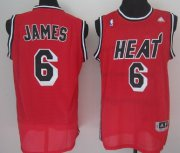 Wholesale Cheap Miami Heat #6 LeBron James 2013 Red Swingman Jersey
