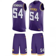 Wholesale Cheap Nike Vikings #54 Eric Kendricks Purple Team Color Men's Stitched NFL Limited Tank Top Suit Jersey