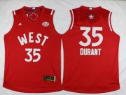 Wholesale Cheap 2015-16 NBA Western All-Stars Men's #35 Kevin Durant Revolution 30 Swingman Red Jersey