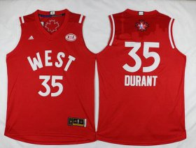 Wholesale Cheap 2015-16 NBA Western All-Stars Men\'s #35 Kevin Durant Revolution 30 Swingman Red Jersey