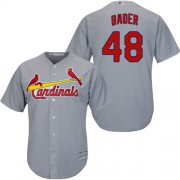 Wholesale Cheap Cardinals #48 Harrison Bader Grey New Cool Base Stitched MLB Jersey