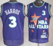 Wholesale Cheap NBA 1995 All-Star #3 Dana Barros Purple Swingman Throwback Jersey