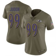 Wholesale Cheap Nike Ravens #99 Matthew Judon Olive Women's Stitched NFL Limited 2017 Salute To Service Jersey