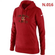 Wholesale Cheap Women's Nike Cincinnati Bengals Heart & Soul Pullover Hoodie Red