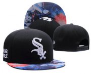 Wholesale Cheap Chicago White Sox Snapback Ajustable Cap Hat GS 7
