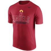 Wholesale Cheap Los Angeles Angels of Anaheim Nike Cooperstown Legend Team Issue Performance T-Shirt Red