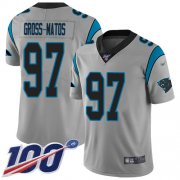 Wholesale Cheap Nike Panthers #97 Yetur Gross-Matos Silver Youth Stitched NFL Limited Inverted Legend 100th Season Jersey
