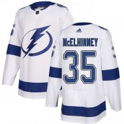 Cheap Adidas Lightning #35 Curtis McElhinney White Road Authentic Stitched NHL Jersey