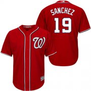 Wholesale Cheap Nationals #19 Anibal Sanchez Red New Cool Base Stitched Youth MLB Jersey