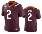 Wholesale Cheap Men's Virginia Tech Hokies #2 Jeremy Webb Maroon 150th College Football Nike Jersey
