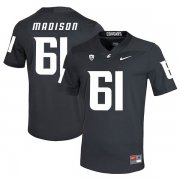Wholesale Cheap Washington State Cougars 61 Cole Madison Black College Football Jersey