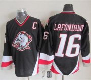 Wholesale Sabres #16 Pat Lafontaine Black CCM Throwback Stitched NHL Jersey
