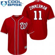 Wholesale Cheap Nationals #11 Ryan Zimmerman Red Cool Base Stitched Youth MLB Jersey
