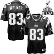 Wholesale Cheap Patriots #83 Wes Welker Black Shadow Super Bowl XLVI Embroidered NFL Jersey