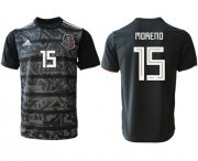 Wholesale Cheap Mexico #15 Moreno Black Soccer Country Jersey