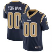 Wholesale Cheap Nike Los Angeles Rams Customized Navy Blue Team Color Stitched Vapor Untouchable Limited Men's NFL Jersey