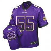 Wholesale Cheap Nike Vikings #55 Anthony Barr Purple Team Color Men's Stitched NFL Elite Drift Fashion Jersey