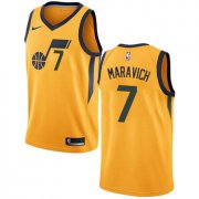 Wholesale Cheap Men's NBA Utah Jazz #7 Pete Maravich Swingman Gold Association Edition Nike Jersey