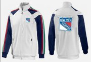 Wholesale Cheap NHL New York Rangers Zip Jackets White-4