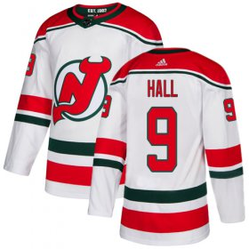 Wholesale Cheap Adidas Devils #9 Taylor Hall White Alternate Authentic Stitched Youth NHL Jersey